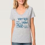 50th Birthday 1965 or ANY Year Vintage Brew SILVER Tshirts