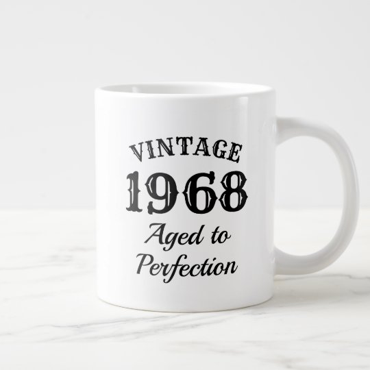 50th Birthday 1968 Extra Large Jumbo Mug Gift