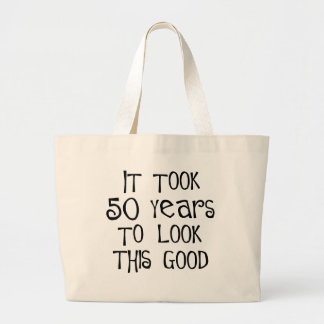 50th birthday 50 years to look this good canvas bag