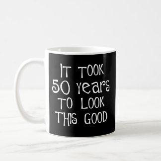 50th birthday, 50 years to look this good! basic white mug