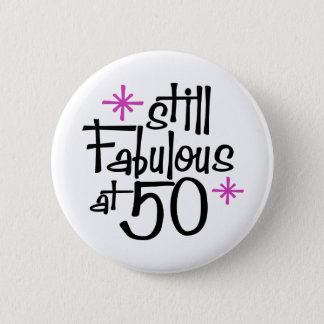 50th Birthday 6 Cm Round Badge