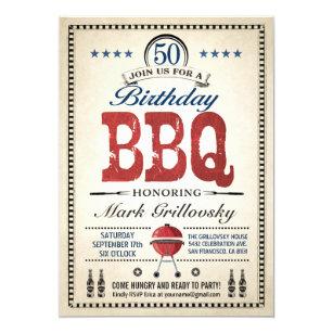 50th Birthday BBQ Invitations