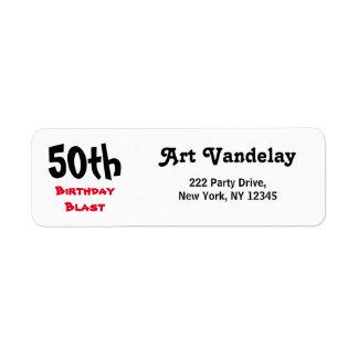 50th Birthday Blast Return Address Label
