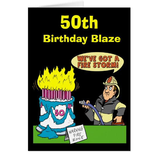 50th Birthday Blaze Card