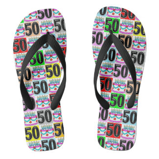 50TH BIRTHDAY CAKE FLIP FLOPS
