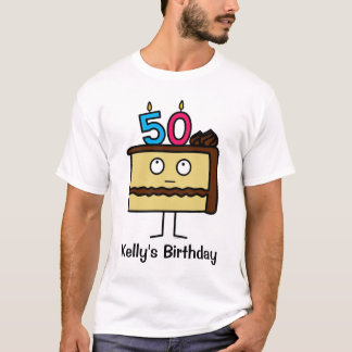 50th Birthday Cake with Candles T-Shirt