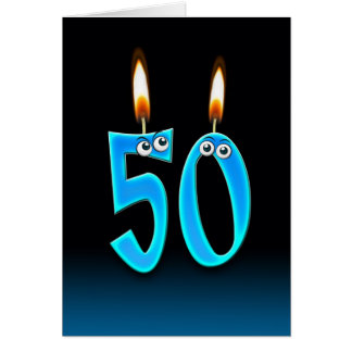 50th Birthday Candles Greeting Card