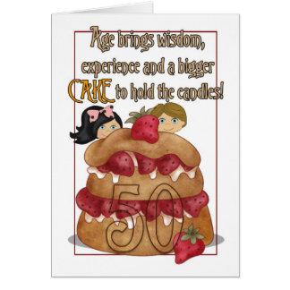 50th Birthday Card - Humour - Cake