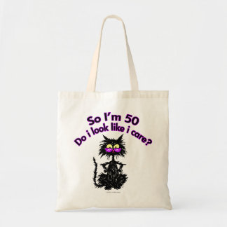 50th Birthday Cat Tote Bag