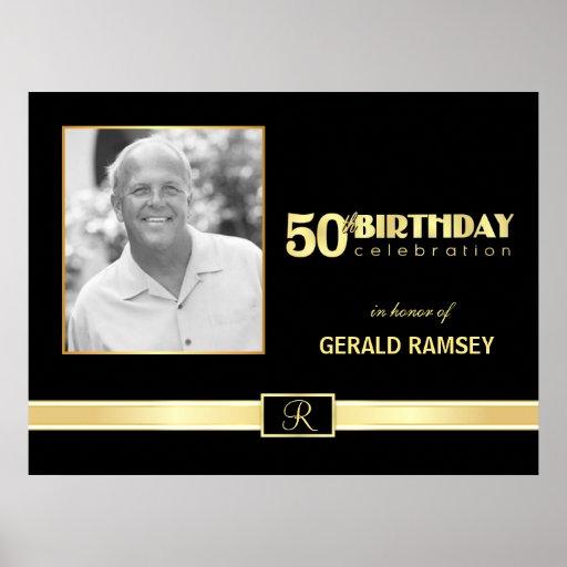 50th Birthday Celebration - Custom Photo Poster