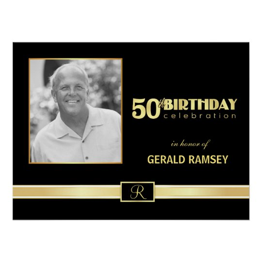 50th Birthday Celebration - Custom Photo Poster