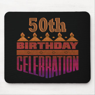 50th Birthday Celebration Gifts Mouse Pad