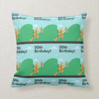50th birthday cushion