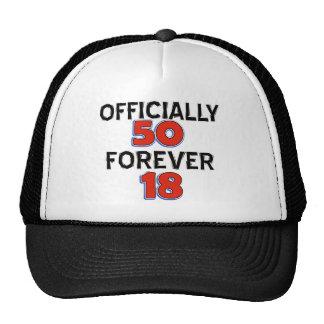 50th birthday designs cap