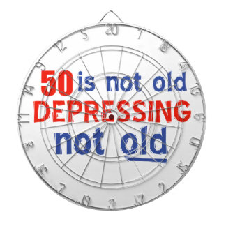 50th birthday designs dartboard