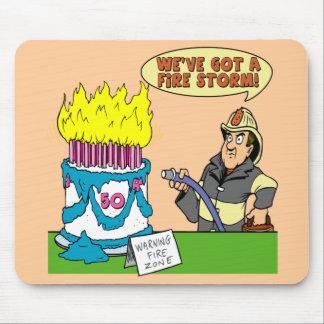 50th Birthday Fire Storm Mousepad