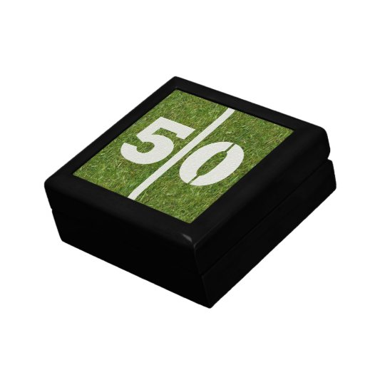 50th Birthday Football Jewellery Gift Box