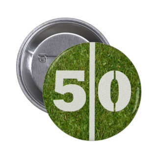 50th Birthday Football Yard Button