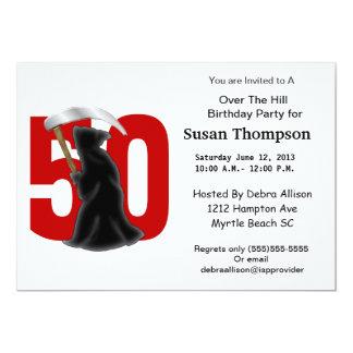 50th Birthday Funny Grim Reaper 13 Cm X 18 Cm Invitation Card