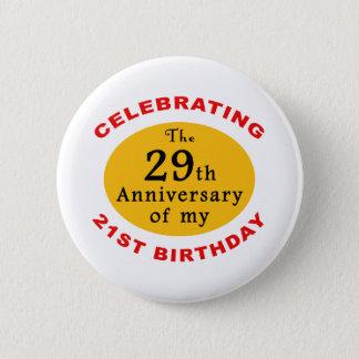 50th Birthday Gag Gifts 6 Cm Round Badge