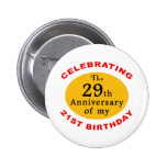 50th Birthday Gag Gifts 6 Cm Round Badge