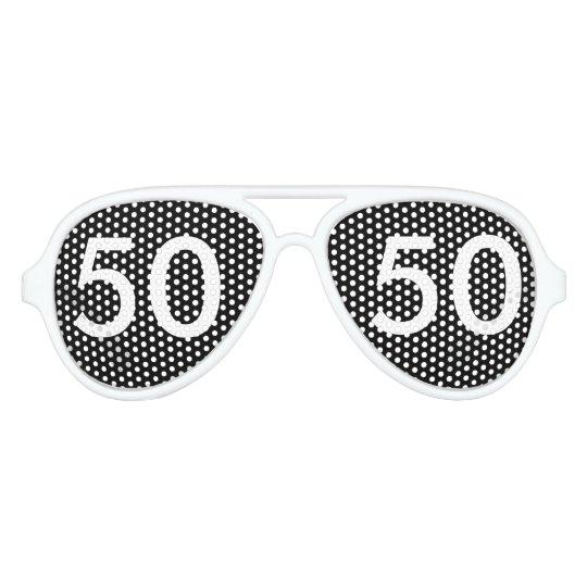 50th Birthday Gag Gifts Aviator Sunglasses