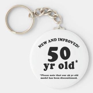 50th Birthday Gag Gifts Basic Round Button Key Ring