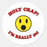 50th Birthday Gag Gifts Round Sticker