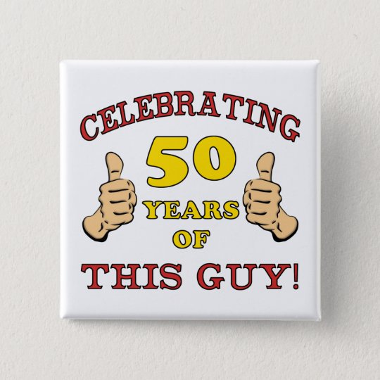 50th Birthday Gift For Him 15 Cm Square