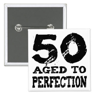 50th Birthday Gifts! 15 Cm Square Badge