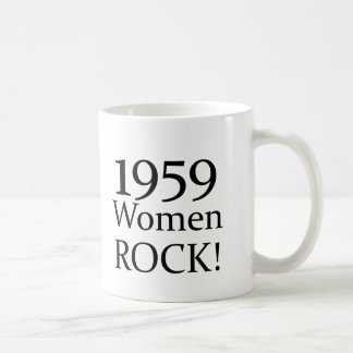 50th Birthday Gifts, 1959 Women Rock! Coffee Mug