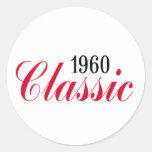 50th birthday gifts, 1960 Classic! Round Sticker