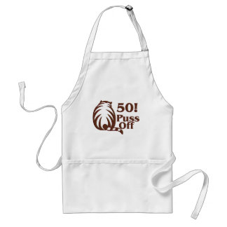 50th Birthday Gifts 50 Puss Off Aprons