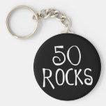 50th birthday gifts, 50 ROCKS Key Chains