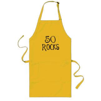 50th birthday gifts, 50 ROCKS Long Apron
