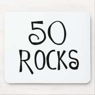 50th birthday gifts, 50 ROCKS Mouse Pad