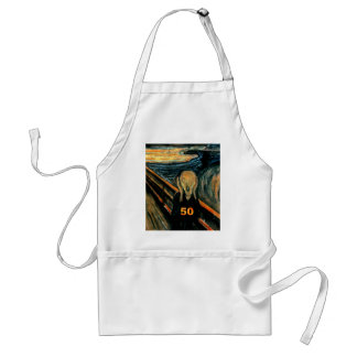 50th Birthday Gifts The Scream 50 Aprons
