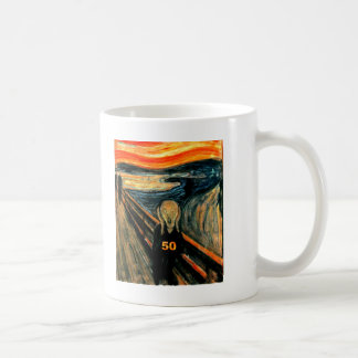 50th Birthday Gifts The Scream 50 Coffee Mugs