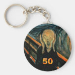 50th Birthday Gifts, The Scream 50! Keychains