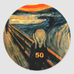 50th Birthday Gifts, The Scream 50! Stickers