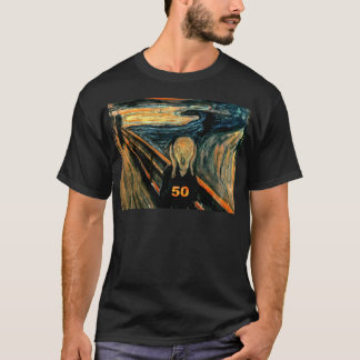 50th Birthday Gifts, The Scream 50! T-Shirt