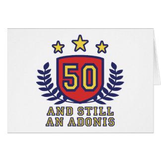 50th Birthday Greeting Card