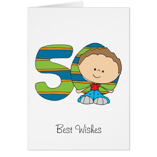 50th Birthday - Greetings card - Boy