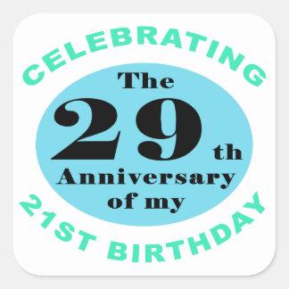 50th Birthday Humor Square Sticker