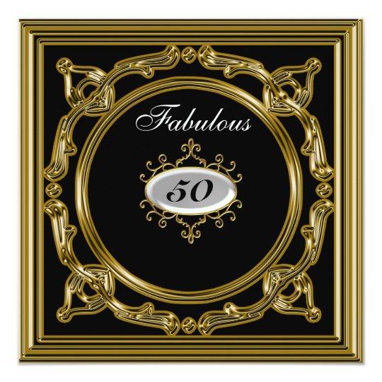 50th birthday Invitation Black