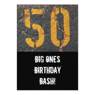 50th Birthday-Invitation Card