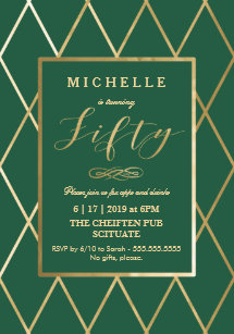 50th Birthday Invitations Announcements