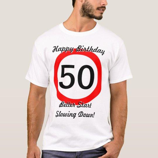 50th Birthday Joke 50 Road Sign Speed Limit