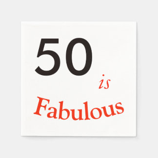 50th Birthday Napkin Paper Napkin