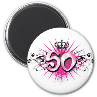 50th birthday or anniversary magnet